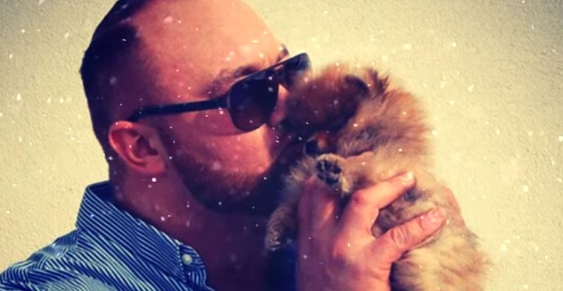 Хафтор со своим псом Астериксом